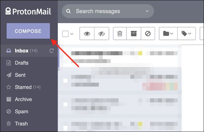 Compose a New Email in ProtonMail
