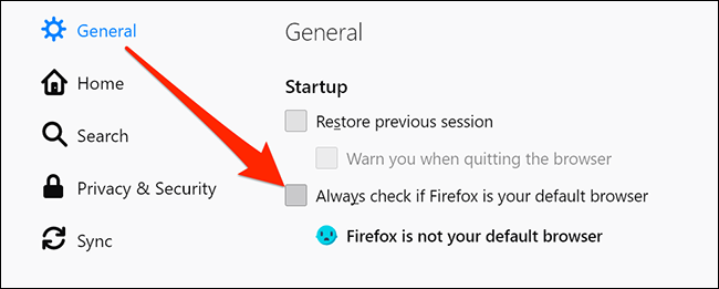 Disable Firefox's default browser prompts