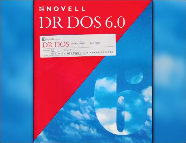 Novell DR-DOS 6 box art