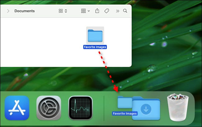 Drag any folder to the Dock to create a shortcut there.