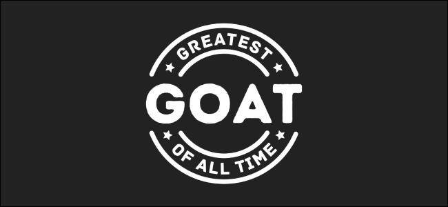 "A ""GOAT"" logo."