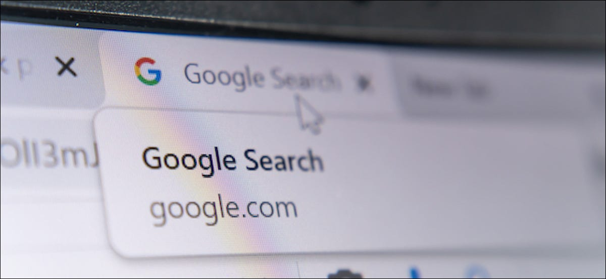 Google Search label in the Chrome browser