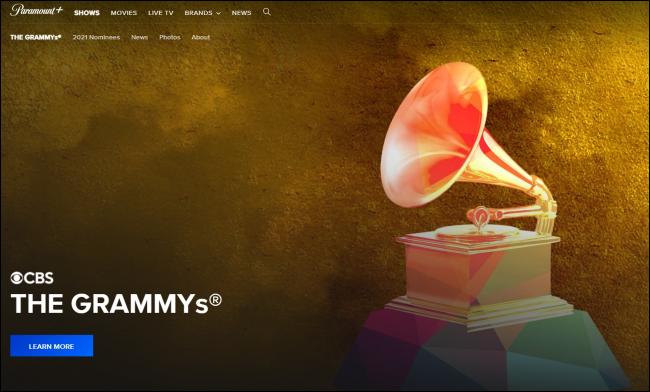 Grammy-díjak a Paramount + -on