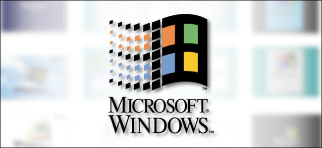 The classic Microsoft Windows logo on a blurred white background