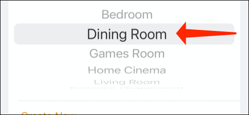 Select a room