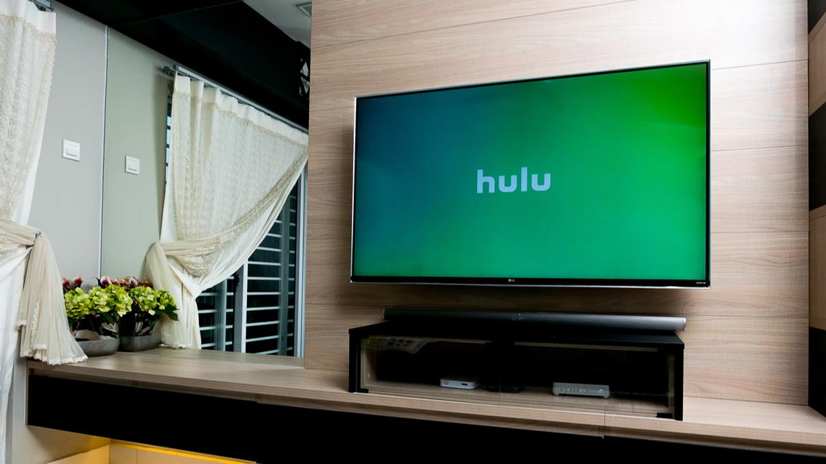 Hulu logo on a smart TV