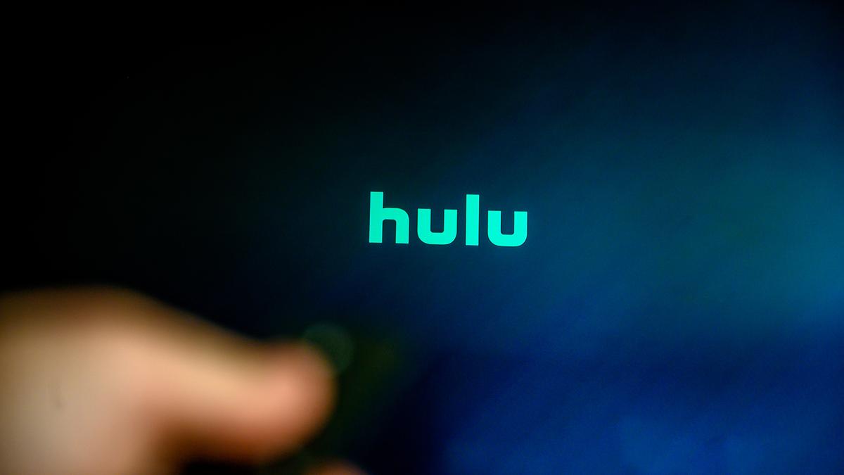 Hulu logo on a TV