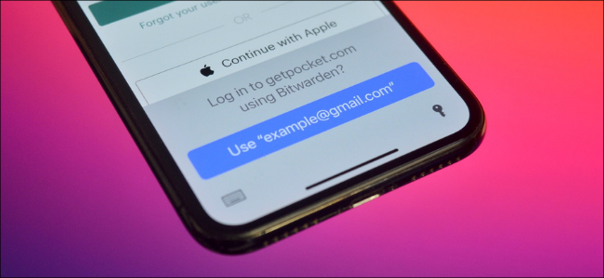 iPhone User Using Third Party AutoFill from Bitwarden