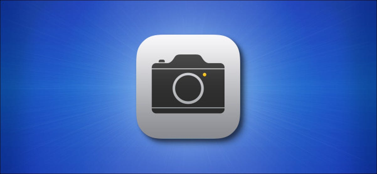 The iPhone and iPad Camera app icon on a blue background