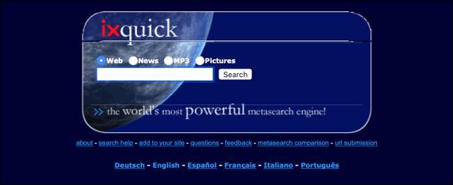 ixquick Meta Search Engine (Wayback Machine)