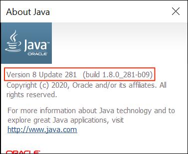 Tekintse meg Java-verzióját a About Java használatával