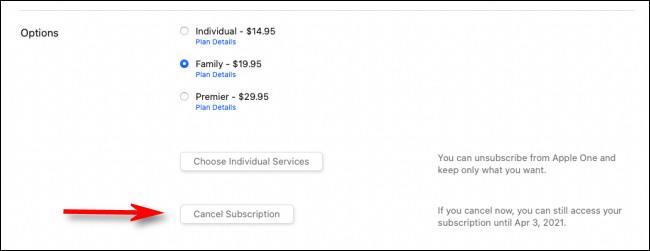 """Click """"Cancel Subscription."""""""