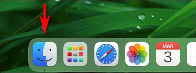 "Click the ""Finder"" icon in your Dock."