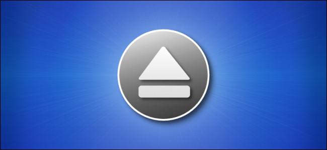 Значок извлечения Mac на синем фоне