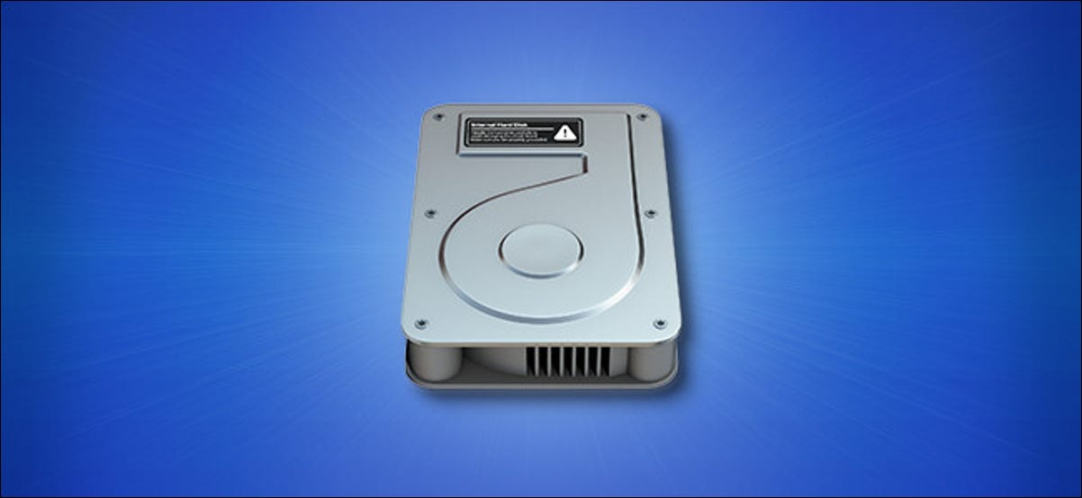 Apple Mac Big Sur hard drive icon on a blue background
