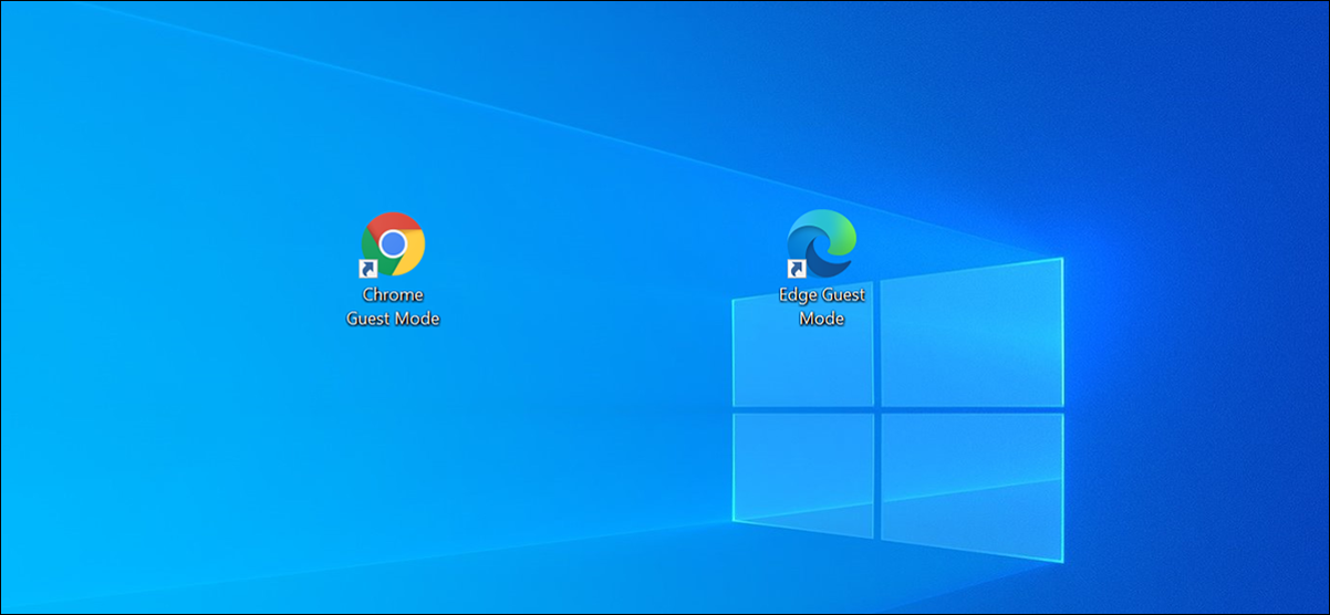 Chrome and Edge icons on Windows desktop