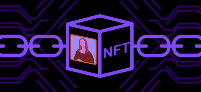 A representation of an NFT token on a blockchain.