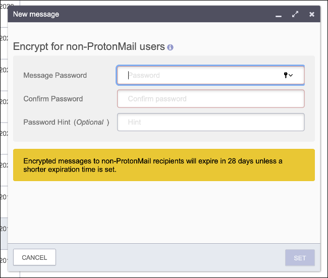 Secure Email with a Password