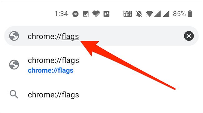 Access Chrome's flags menu