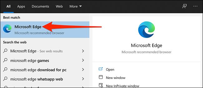 Inicie Microsoft Edge