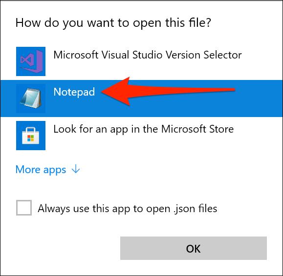 Access Windows Terminal settings using Notepad