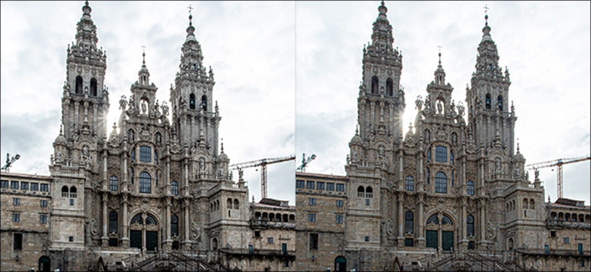 preview image showing clarity and texture affects side by side
