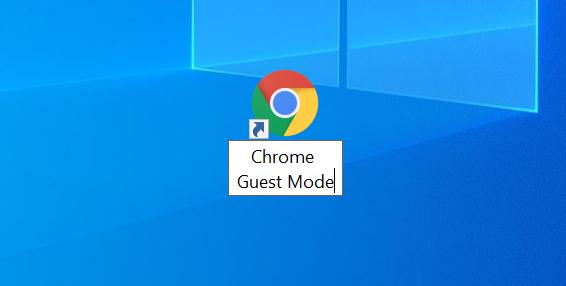 Chrome's shortcut on desktop