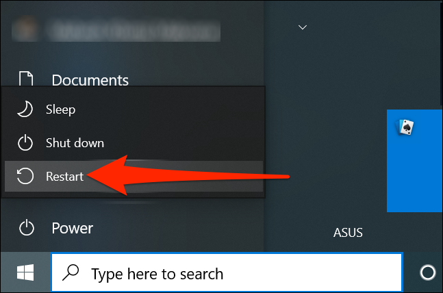 Khởi động lại PC của bạn
