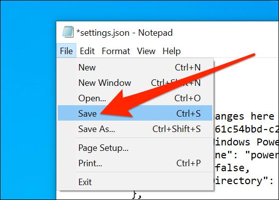 Salvar configurações do Terminal Windows