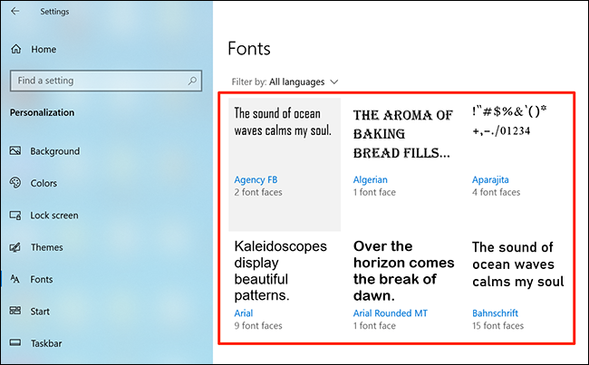 Select your font