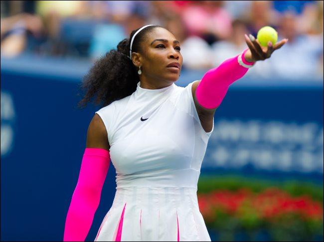 Serena Williams at the 2016 US Open Grand Slam tennis tournament