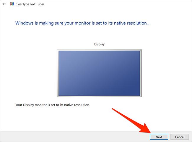 Set the default resolution