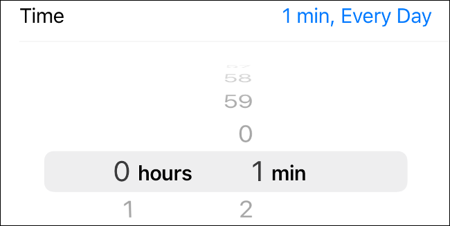 Set app screen time limit on iOS