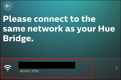 Choose your home network from the list and input your Wi-Fi password to continue.