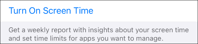 Enable Screen Time on iOS