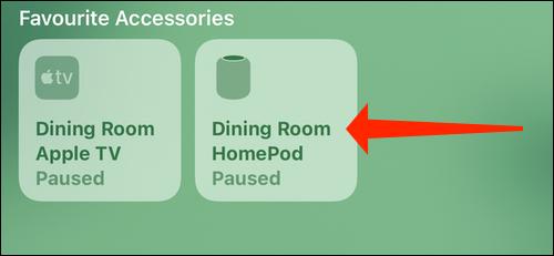 Нажмите и удерживайте значок HomePod