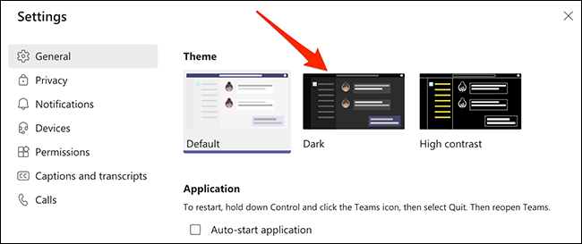 Enable dark mode in Microsoft Teams on desktop