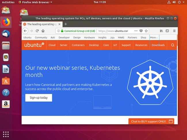 Ubuntu asztal