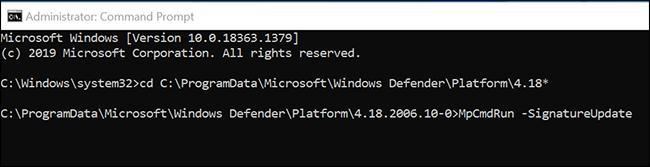 Update the Microsoft Defender Antivirus