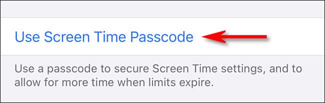 """Tocca """"Usa il passcode dello schermo""""."""