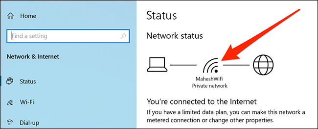 Check the Wi-Fi signal strength using Settings