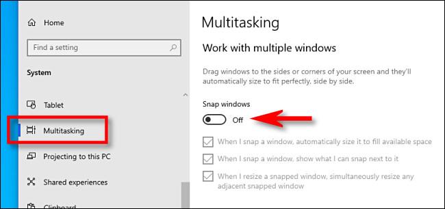 Hướng Dẫn Cách Tắt Tính Năng Snap Trong Windows 10 - VERA STAR