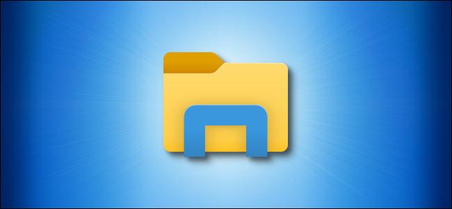 Windows 10 File Explorer Icon on a Blue Background