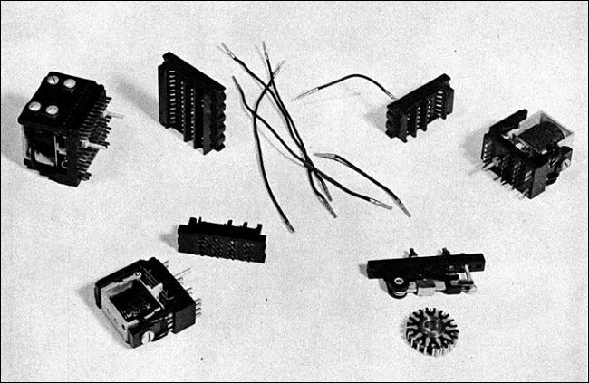1940s computer relays from an IBM instruction manual.