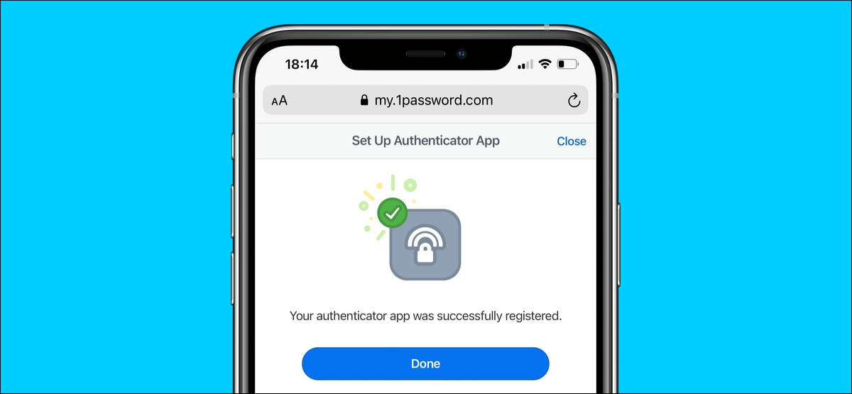 Enable two-factor authentication on 1Password