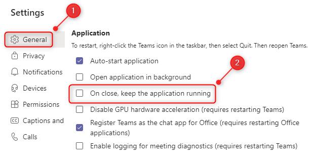 关闭应用程序时如何完全关闭 Microsoft Teams