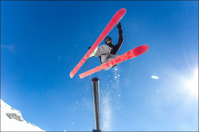 image showing skier on bright day