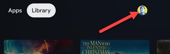 profile icon on home screen