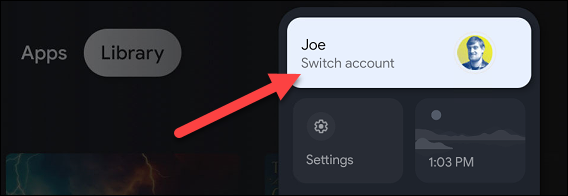 select account from menu