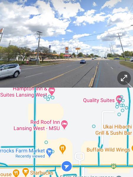 Street View split screen